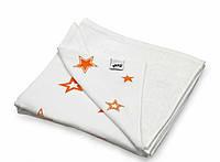 Плед детский  двусторонний   XKKO  бамбук-хлопок  130*70 , оранжевые звезды