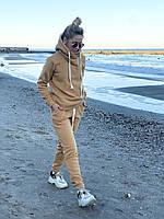 Костюм женский флисовый бежевый, графит, фото 1