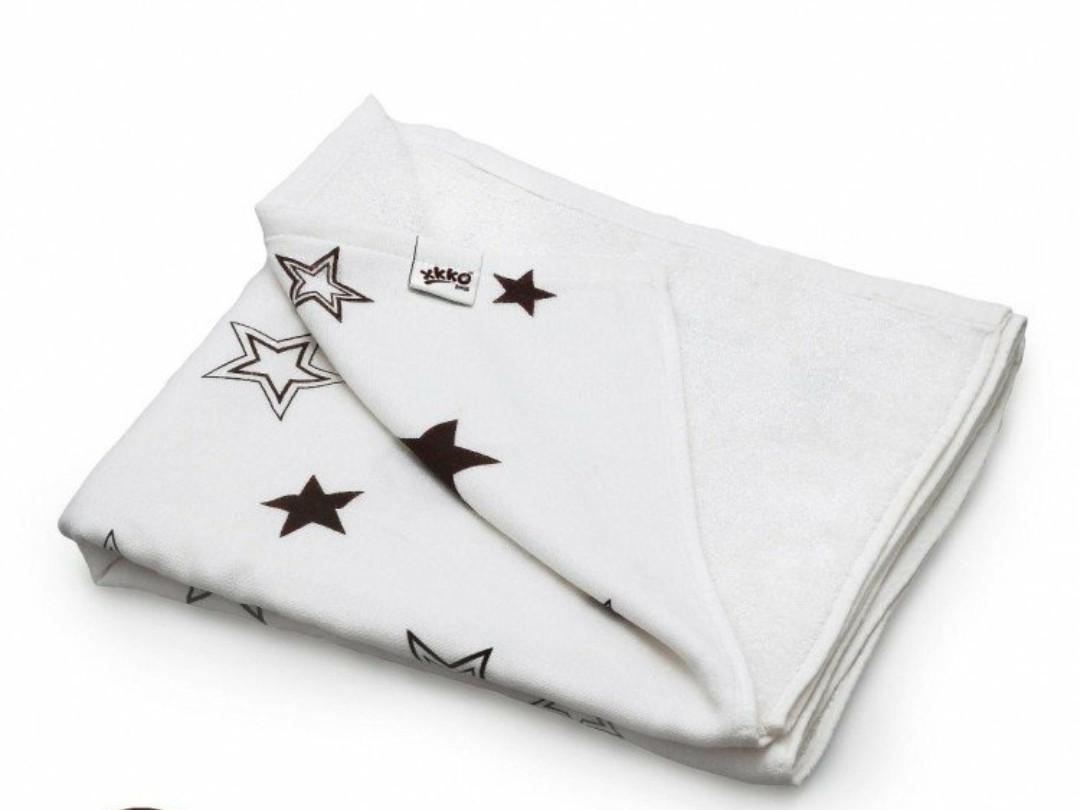 Плед детский  двусторонний   XKKO  бамбук-хлопок  130*70 , коричневые звезды
