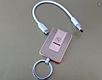 Электроимпульсная спиральная зажигалка брелок USB электро аккумулятор, фото 4