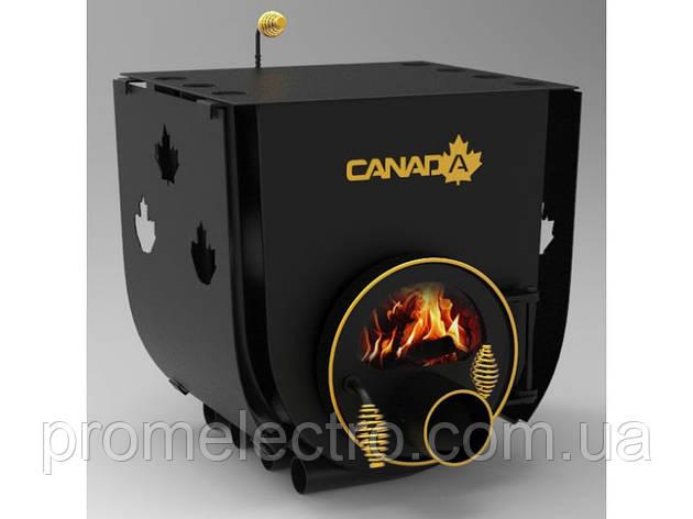 Печь булерьян с плитой Canada Тип 00 + стекло и защитный кожух, фото 2