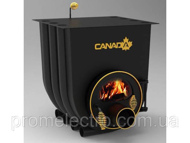 Печь булерьян с плитой Canada Тип 02 + стекло, фото 2