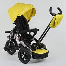 Трехколесный велосипед best trike 4490 желтый c поворотным сиденьем, фото 3