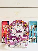 Дитячий посуд з ляльками лол 5 предметів
