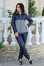 Женский теплый костюм кашемир + плащевка 48-54 рр. Батал, фото 2
