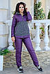 Женский теплый костюм кашемир + плащевка 48-54 рр. Батал, фото 4