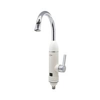 Электрический водонагреватель Solone EC-320 однорычажный с коротким изливом цвет белый,смеситель Солоне