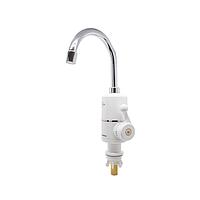 Электрический водонагреватель Solone EC-300 однорычажный с высоким изливом цвет белый,смеситель Солоне