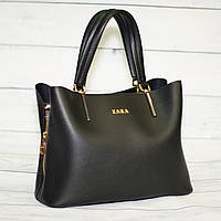 Женская сумка Zara (Зара), черная ( код: IBG168B )