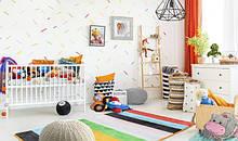 Дитяча кімната: манежі, ходунки, шезлонги і тд.