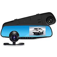 Видеорегистратор-зеркало автомобильный с камерой заднего вида Dvr 1433 4,3Full HD 152635