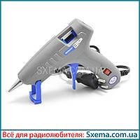 Клеевой пистолет термопистолет Tonglian TL-186 30W 7мм, тонкий носик, кнопка включения, фото 1