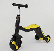 Самокат Best scooter желтый S868 3 в 1 с подсветкой и музыкой, фото 3