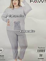 Женская пижама интерлок Турция, большие размеры, разные цвета