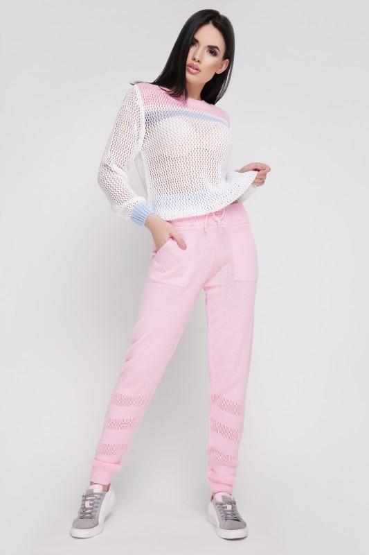"""Вязаный костюм """"TISSU"""" Розовый/Голубой 42-46"""