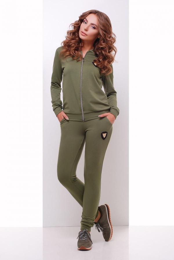Женский спортивный костюм оливковый