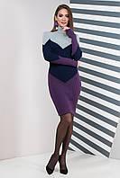 Вязаное платье Элиза (42-50) слива, фото 1