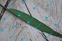 Лента окантовочная репсовая/10мм/зеленая/арт. 9952, фото 1