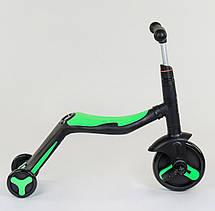 Самокат Best scooter зеленый  S868 3 в 1 с подсветкой и музыкой, фото 3