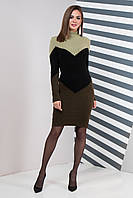Вязаное платье Элиза (42-50) хаки