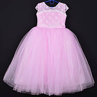 """Платье нарядное детское """"Злата"""". 7-9 лет. Розовое. Оптом и в розницу"""