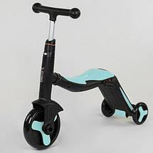 Самокат Best scooter голубой S868 3 в 1 с подсветкой и музыкой, фото 3