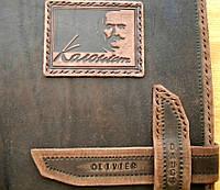 Ежедневник кожаный с надписью., фото 1
