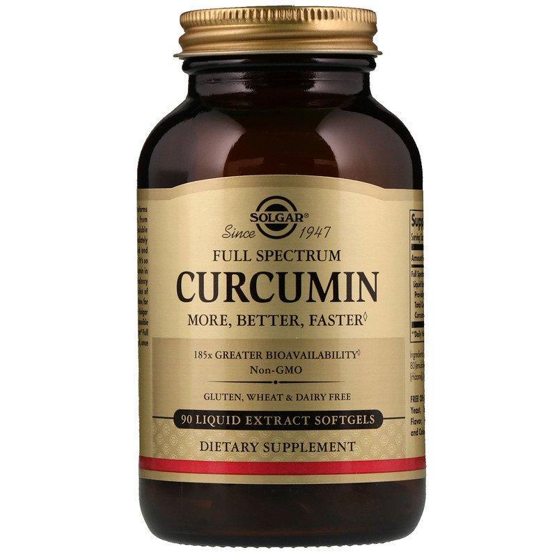 """Куркумин SOLGAR """"Full Spectrum Curcumin"""" полного спектра (90 гелевых капсул)"""