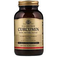 """Куркумин, SOLGAR """"Full Spectrum Curcumin"""" полного спектра (90 гелевых капсул)"""