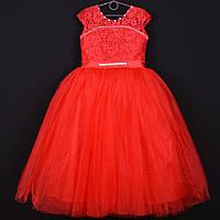 """Платье нарядное детское """"Злата"""". 7-9 лет. Красное. Оптом и в розницу"""