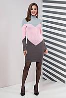 Вязаное платье Элиза (42-50) розовый, фото 1