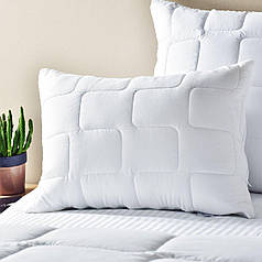 Подушка 50х70 Lux, стеганый чехол на молнии + внутренняя подушка