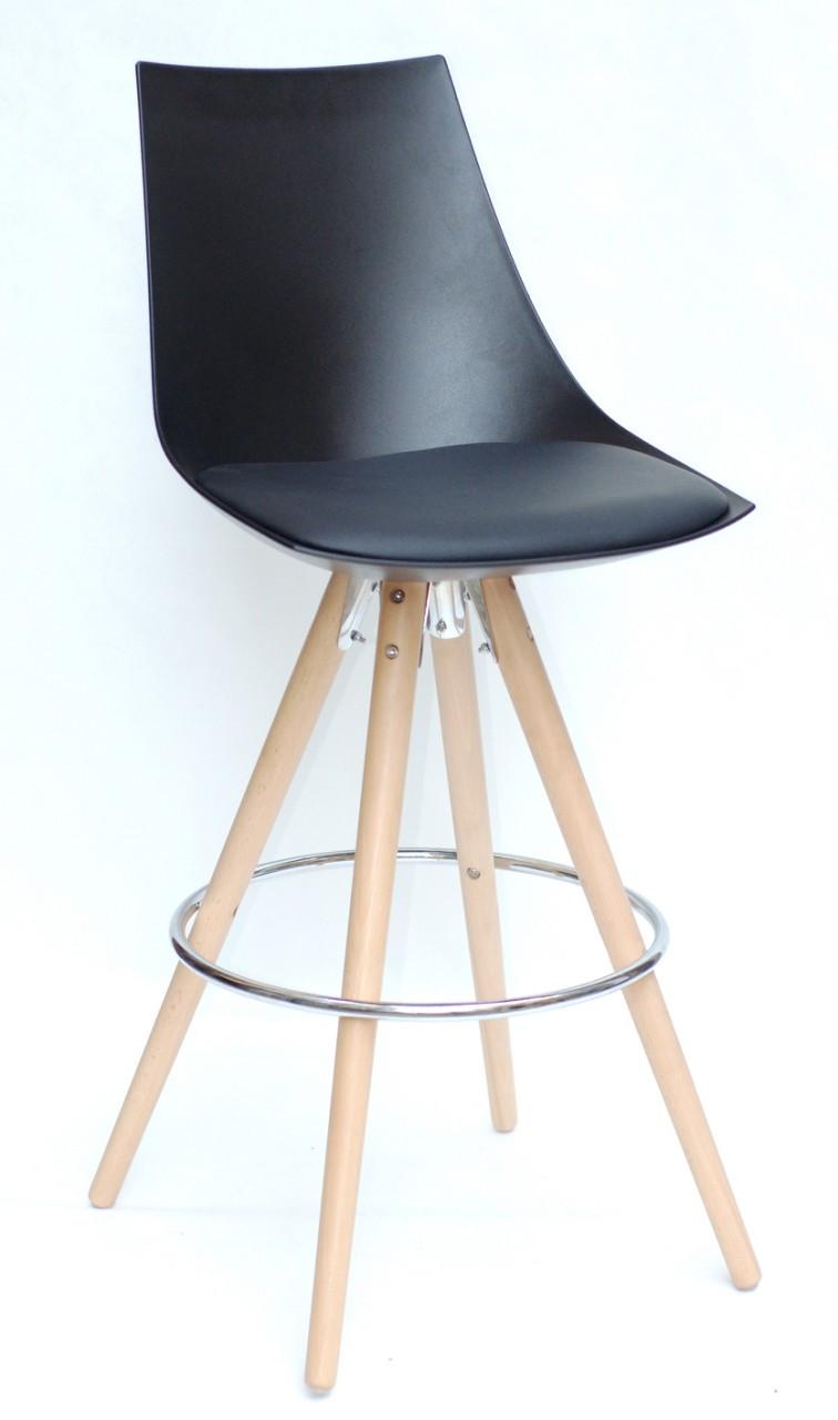 Барний стілець Klim, чорний