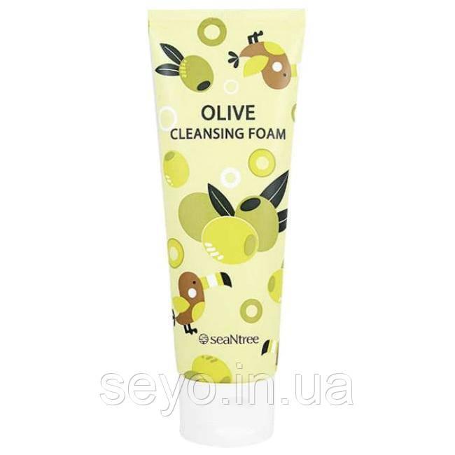 Увлажняющая пенка для умывания SeaNtree Olive 100 Cleansing Foam, 120 мл