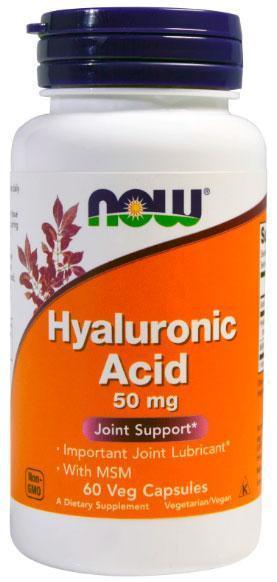 Гиалуроновая кислота Now Foods - Hyaluronic Acid 50 мг (60 капсул)