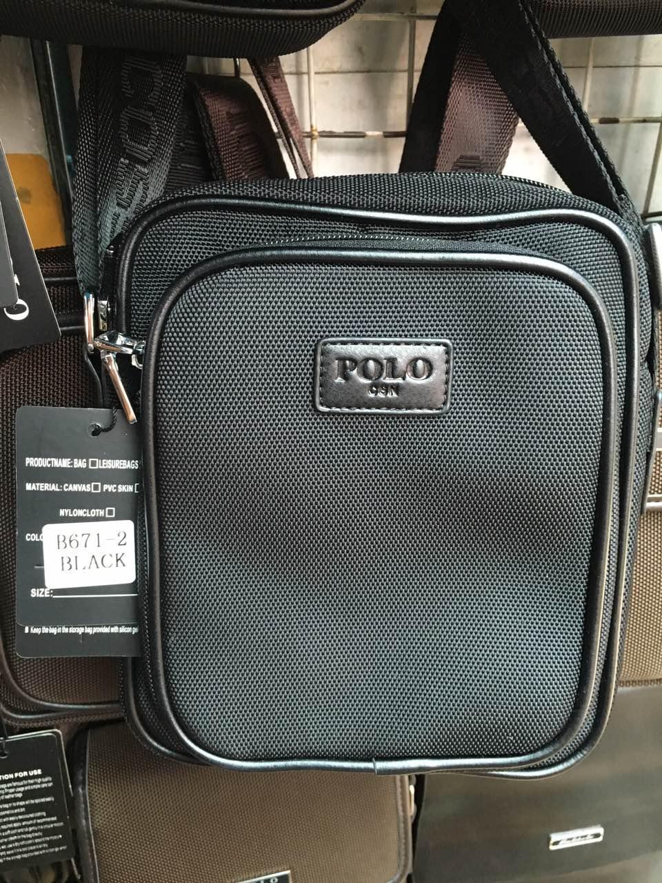 Мужская сумка через плечо от фирмы Polo полиэстер опт розница