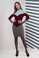 Вязаное платье Элиза (42-50) марсала