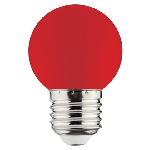 Лампа Светодиодная 1W E27 A45 красная