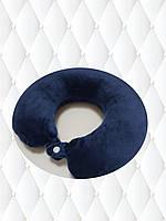 Подушка LSM для путешествий 30х30х9 темно синяя (105-14)