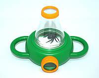 Банка пластикова з кришкою-лупою (для спостереження за комахами), фото 1