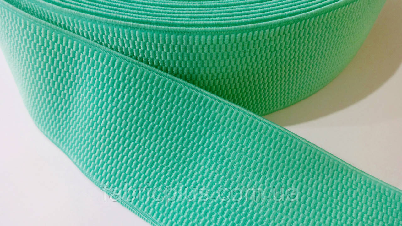 Резинка  декоративная  6 см  мятная