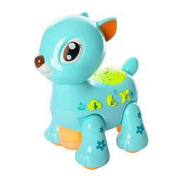 Музыкальный ночник-проектор Олененок 8831 20 см игрушка детская