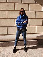 Куртка женская стёганная чёрная, бежевая, мята, электрик, фото 1