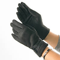 Женские перчатки из искусственной замши со вставками из кожзама № 19-1-51-2 M(7), фото 1