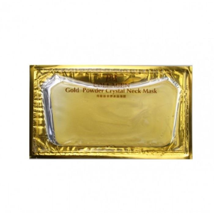 Патчи для шеи Collagen Gold Powder Crystal Neck Mask, с золотом и коллагеном, 1 шт