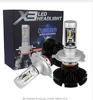 Лед лампы. LED комплект ламп X3 Н4 (ZES, 6000LM, 50W)