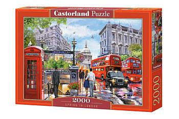 """Пазлы Castorland 2000 - """"Весна в Лондоне"""". Быстрая доставка. Производство Польша. Гарантия качества."""