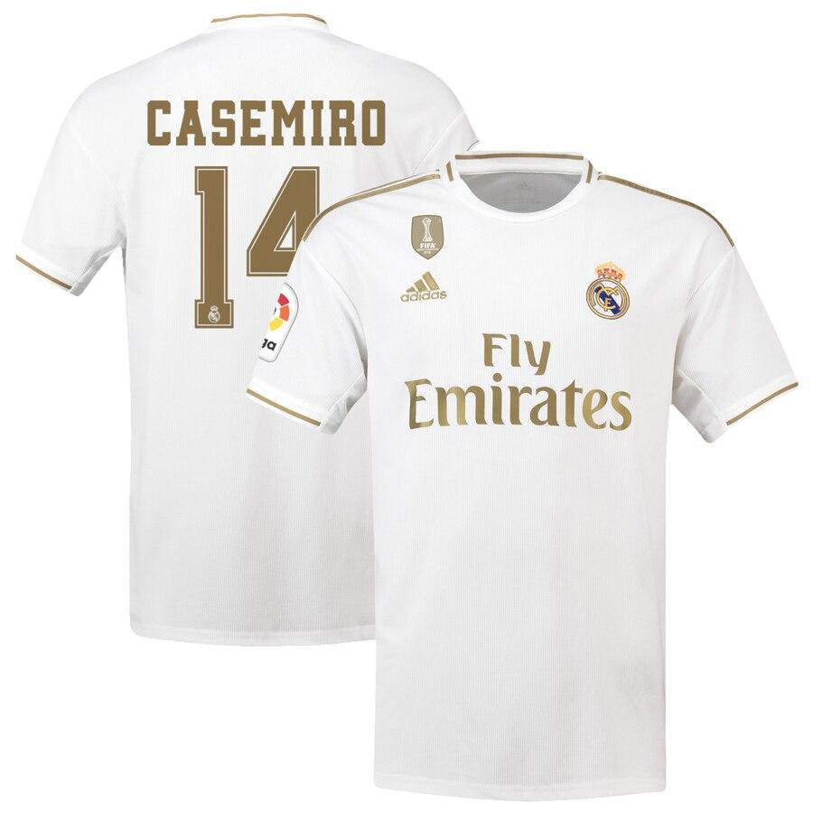 Детская футбольная форма Реал Мадрид CASEMIRO 14 сезон 2019-2020 основная белая