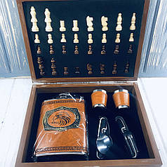 Мужской Подарочный Набор Фляга с Шахматами