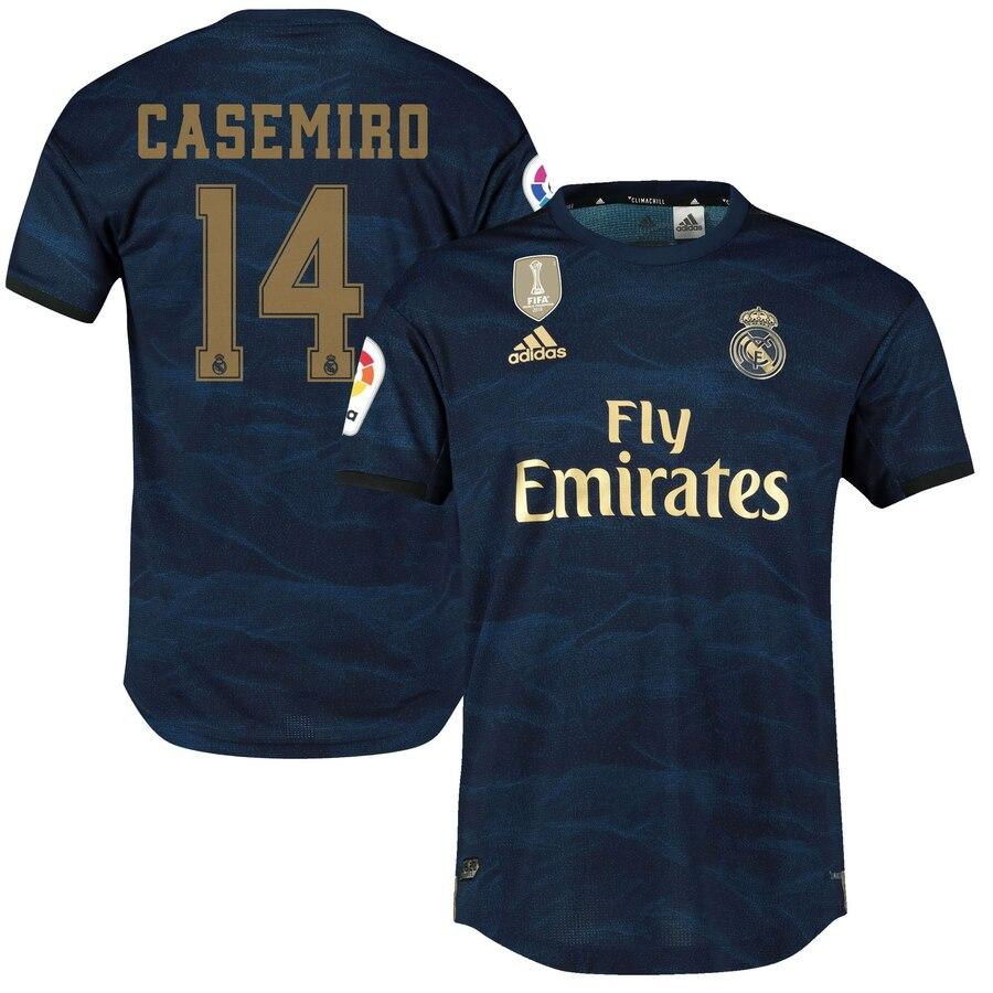 Детская футбольная форма Реал Мадрид CASEMIRO 14 сезон 2019-2020 запасная синяя